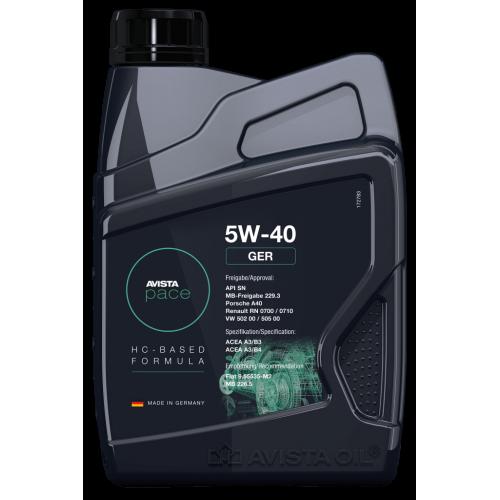 Моторное масло AVISTA pace GER SAE 5W40 (1л)
