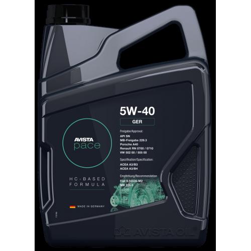 Моторное масло AVISTA pace GER SAE 5W40 (4л)
