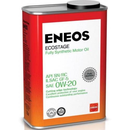 Масло моторное ENEOS 0W20 Ecostage APi SN/RC ILSAC GF-5 (4л)