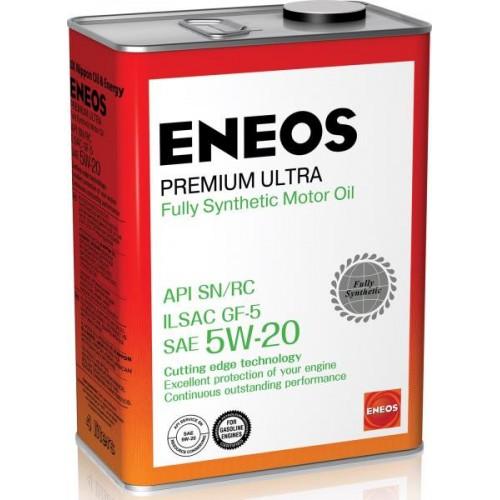 Масло моторное ENEOS 5W20 Premium Ultra  APi SN/RC ILSAC GF-5 (4л)