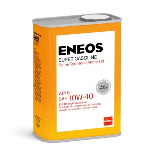Масло моторное ENEOS 10W40 Super Gasoline  APi SL (1л)