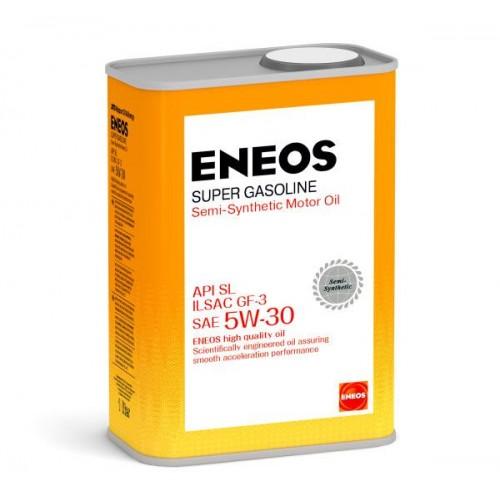 Масло моторное ENEOS 5W30 Super Gasoline  APi SL ILSAC GF-3 (1л)