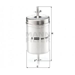 Фильтр топливный MANN-FILTER WK730/3