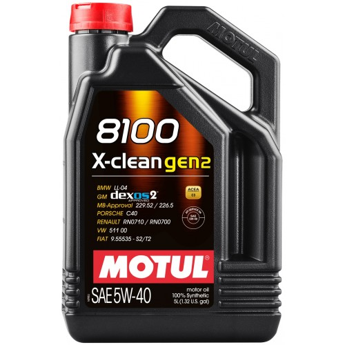 MOTUL 8100 X-clean GEN2 5W40 (5L)